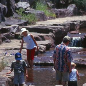 川遊びゾーンまで歩いてすぐ